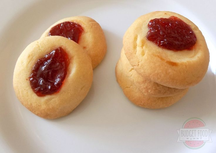 jam shortbread thumbprint biscuits
