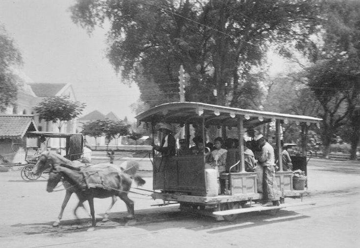 de paardentram van Boyolali naar Soerakarta. 1902