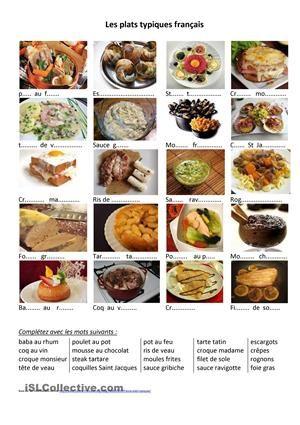 Qualification: Expression écrite, Expression orale Vocabulaire: Nourriture