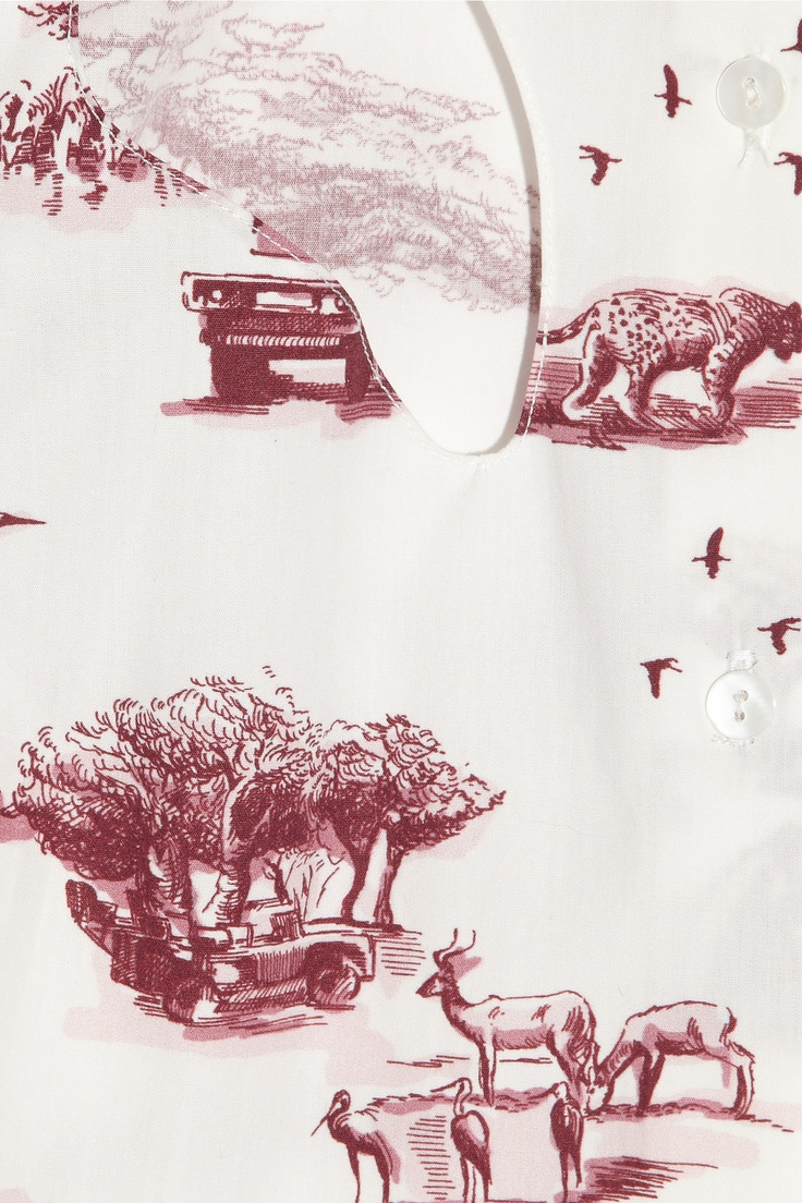 Carven | Safari-print toile