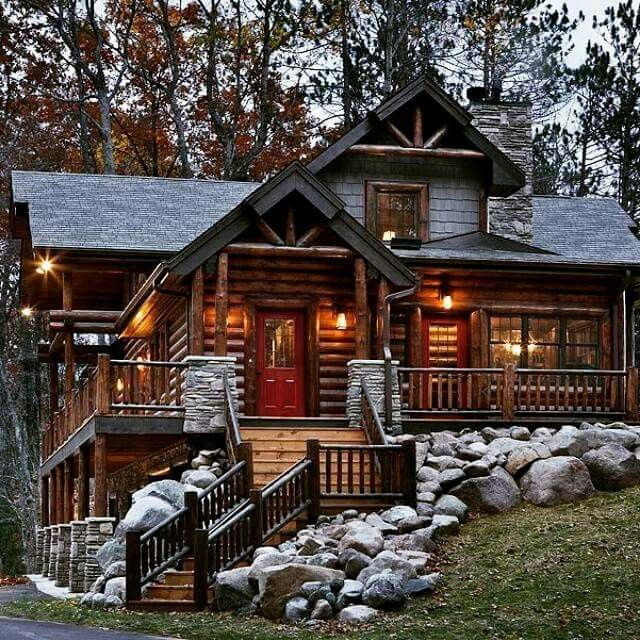 Woodideas Sheet Rock And Cabin Bedroom: 17 Best Images About Cabin Landscaping On Pinterest