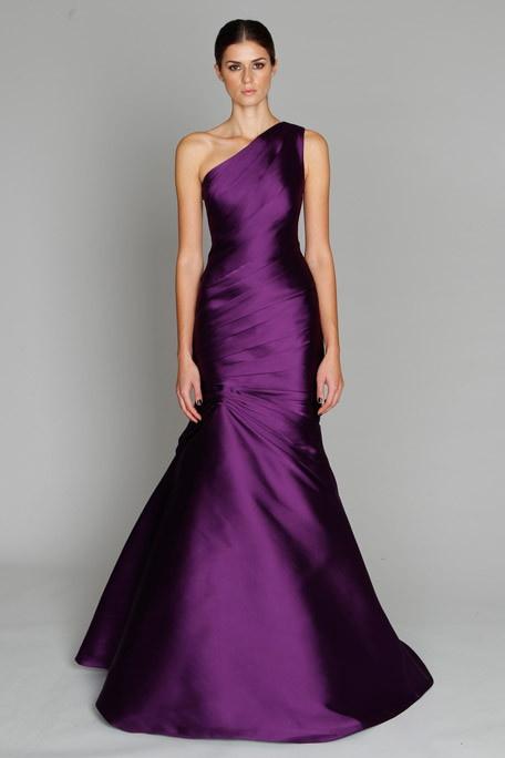 Purple Gown - fashion - Monique Lhuillier Pre-Fall 2011// wow love the color. So chic