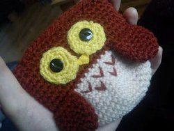 Owl coin purse patern - free crochet pattern