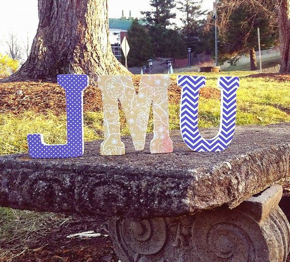 """James Madison University (JMU) 4.75"""" Standing Letters - For special occasions, holidays, birthdays, baby showers, graduation, weddings. Purchase from Better by the Letter on Etsy! #betterbytheletter"""