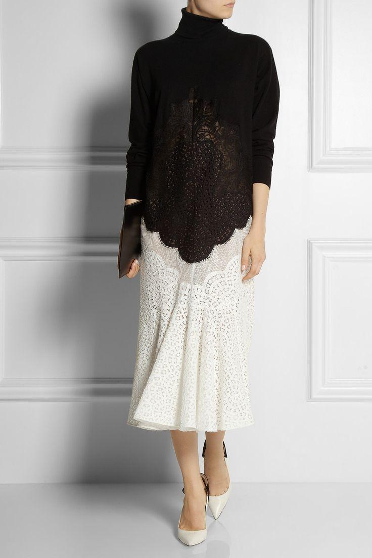 Stella McCartney Wool and lace dress