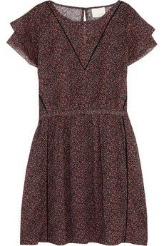 Band of Outsiders Floral-print cotton mini dress | NET-A-PORTER