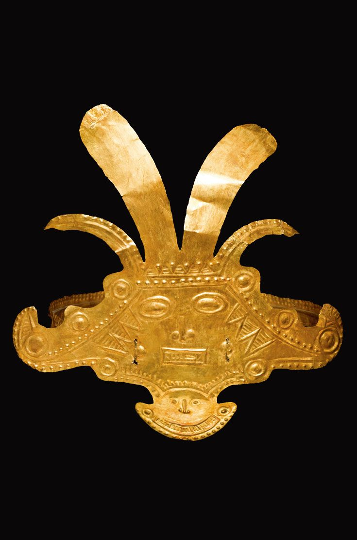 Calima headdress ornament; hammered sheet gold | ca. 200 - 400 AD | 18'750$ ~ sold (May '11)
