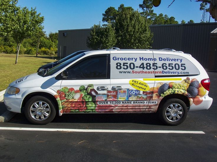 Partial vehicle wrap for Southeastern Delivery by Pensacola Sign in Pensacola, Florida. 🚗💨 On Average, vehicle wraps cost less than $1 per thousand impressions and outdoor advertising like vehicle graphics have the greatest return on investment. Let us help you create your perfect rolling billboard! #pensacolasign