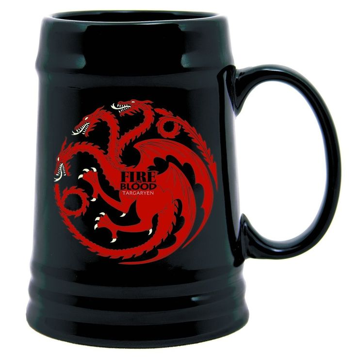 Game Of Thrones 22 Oz. Ceramic Stein Targaryen - Multi