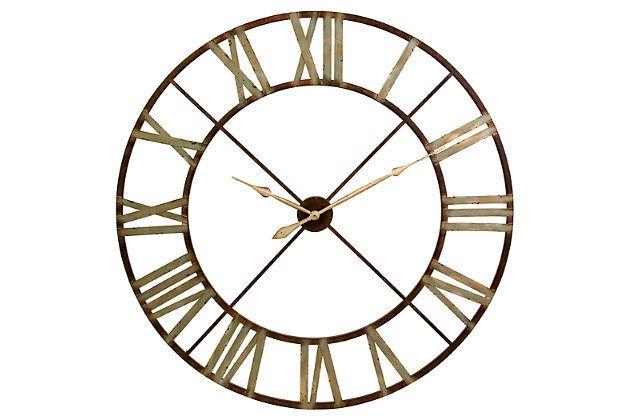 Myles Wall Clock Metal Wall Clock Wall Clock Oversized