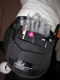 This is a great way to carry supplies but can be annoying under scrubs.