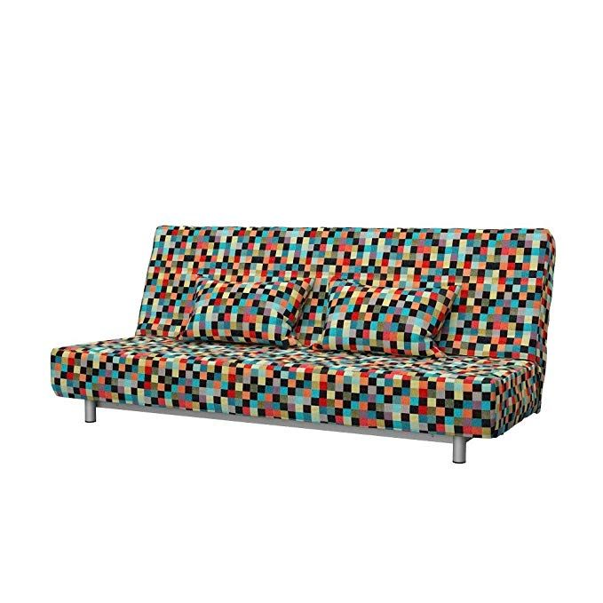 Soferia Replacement Cover For Ikea Beddinge 3 Seat Sofa Bed Mozaik Red Review Slipcovered Sofa Slipcovers Furniture
