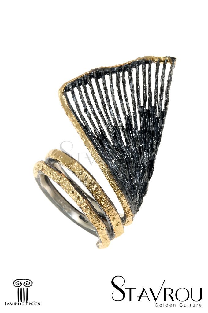 Γυναικείο δαχτυλίδι, χειροποίητο,ασημένιο925'επενδεδυμένο με χρυσό 18 καρατίων. Εμπνευσμένο από τη φύση, μία σπείρα τυλίγεται 2 φορέςγύρω από το δάχτυλό σας καταλήγοντας σε ένα φτερό. #δαχτυλίδια #χειροποίητα_κοσμήματα #αρχαϊκά_κοσμήματα #κοσμήματα_χαλάνδρι