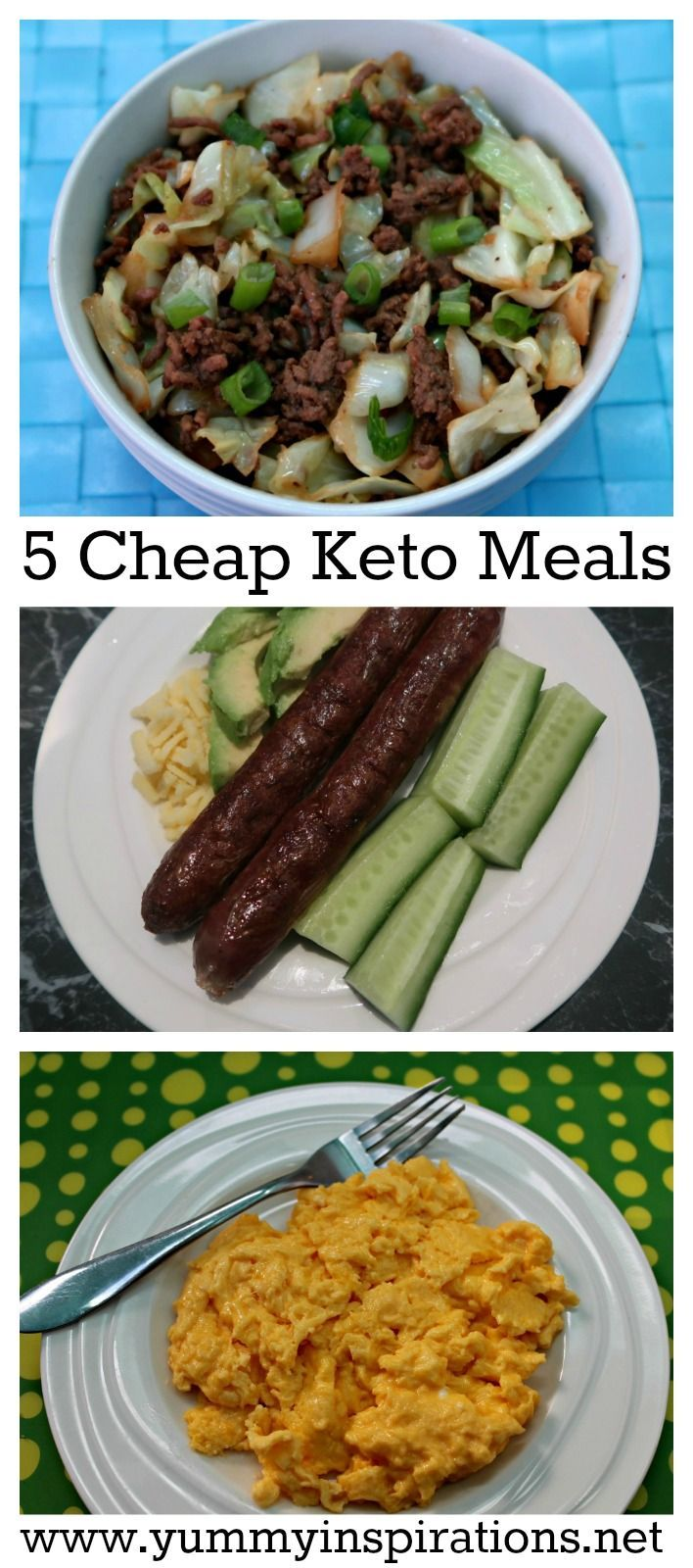 5 Cheap Keto Meals - budget keto diet foods & recipes for dinners and meals - cheap & healthy low carb meals on a budget.