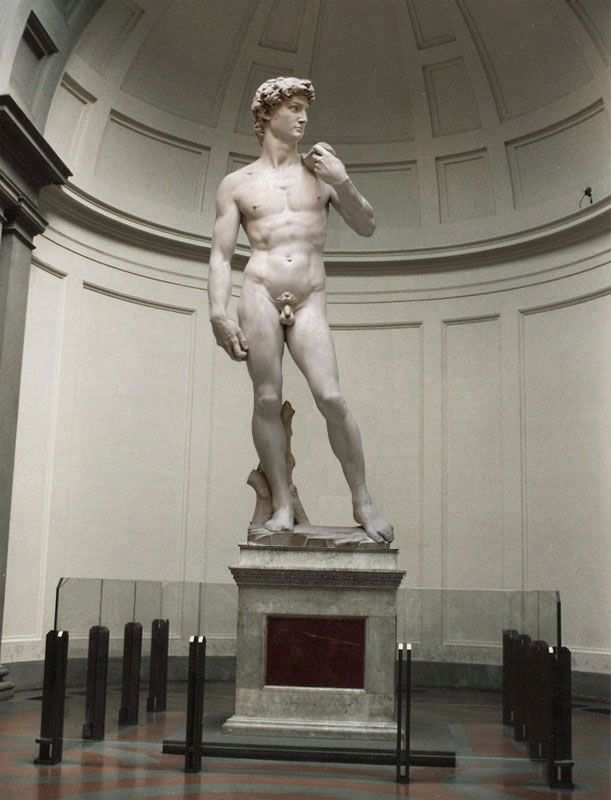 Michelangelo 'David' 1501 - 1504 carrara marble 5.17-metres tall (with base)