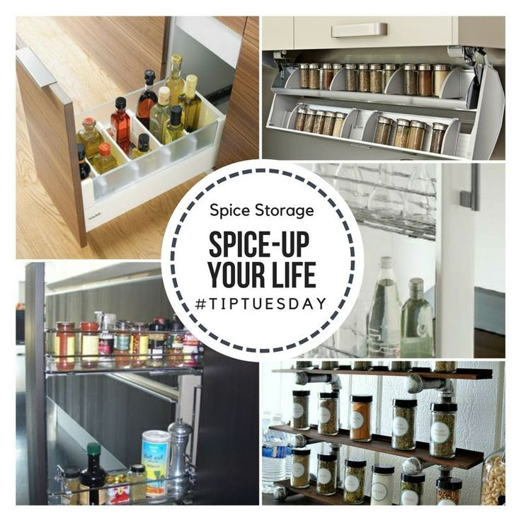 Spice-storage problems? Here is different spice fittings and storage ideas. http://ow.ly/Xgei30e3pFe