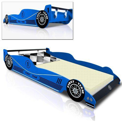 Kinderbett Rennbett BLAU - F1 Formel 1 Autobett Bett Rennwagen