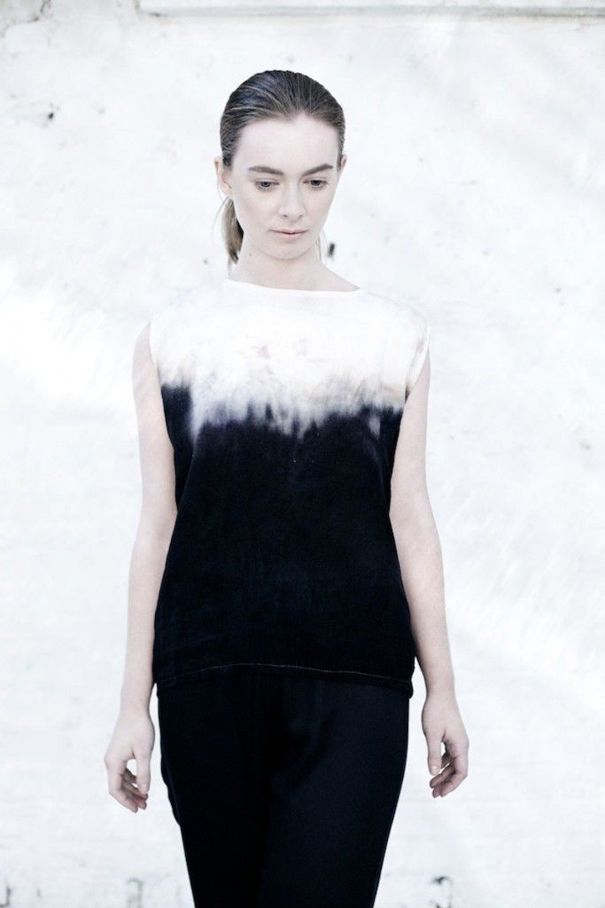 We are Islanders 'Tidelines' Linen Tunic. Part of the #4/704 installation, a 'textural time-lapse' dip dyed with the High-Tide on Sandymount Strand.