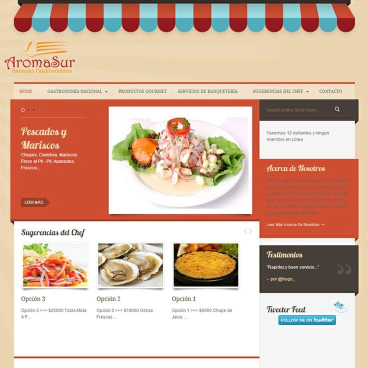 Sitio web www.aromasur.cl