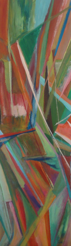 Amo o abstracto, linhas rectas, colidem contra outras... explosão de cor... Instinto. . . à venda: 100 euros