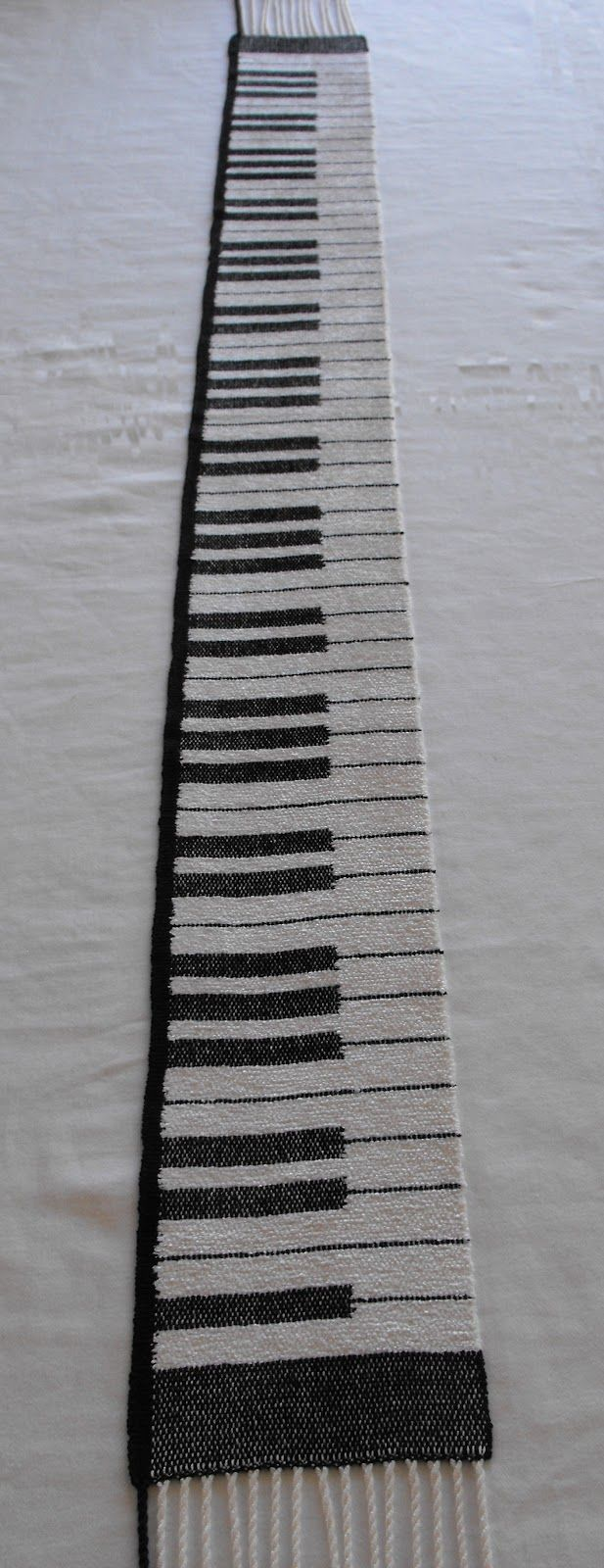 I thought that the piano scarf would be a great addition to our Esty store, Woven Beauty .  Esty is about unique handmade items and this pia...