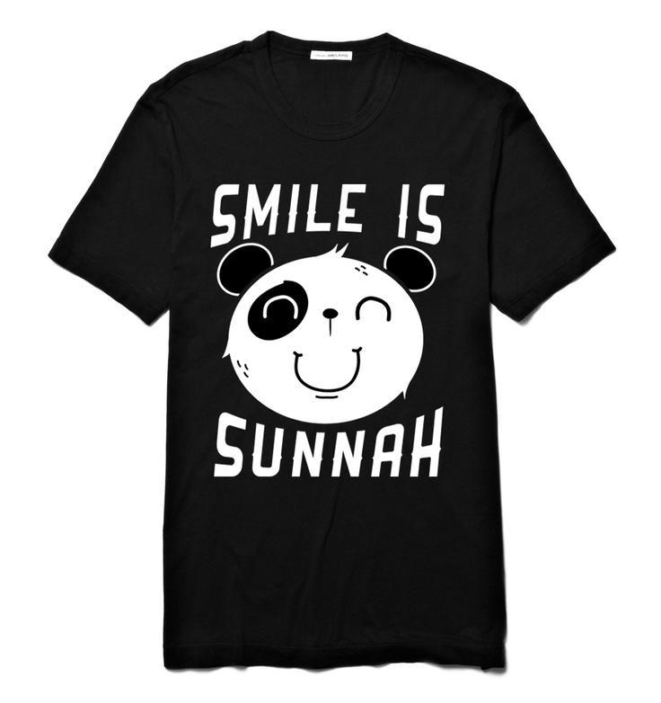 Smile Is Sunnah   Short Sleeve (Black)