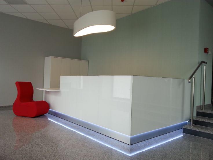 Linea # reception desk Project in Poland