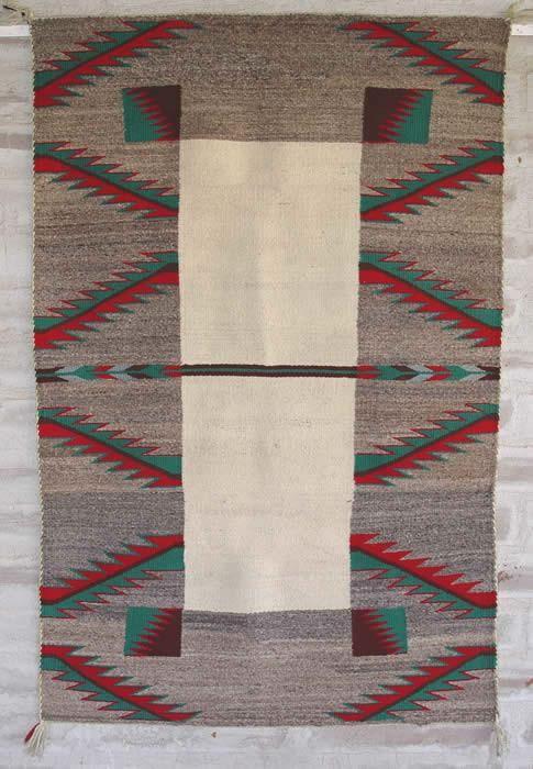 Double Saddle Blanket : Historic Navajo Weaving : GHT 1059 - Getzwiller's Nizhoni Ranch Gallery