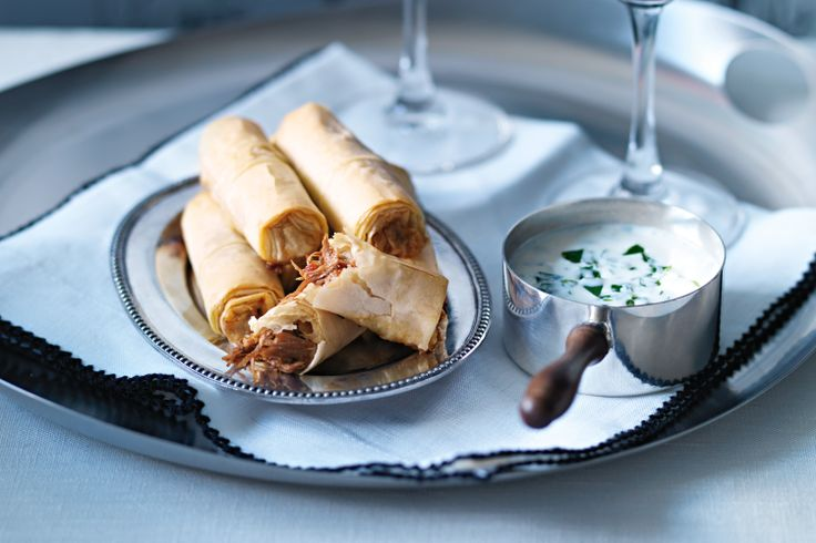 Lamb Shank Filo With Yoghurt Dipping Sauce