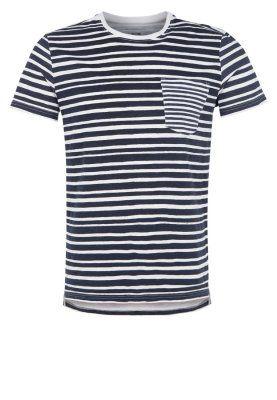 T-shirts med print - white/navy