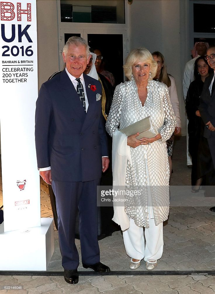 Prince Charles, Prince of Wales and Camilla, Duchess of Cornwall attend a reception at the British Embassy on November 10, 2016 in Manama, Bahrain. The Prince of Wales and the Duchess of Cornwall are on a Royal tour of the Middle East which began with Oman, the UAE and finally Bahrain.