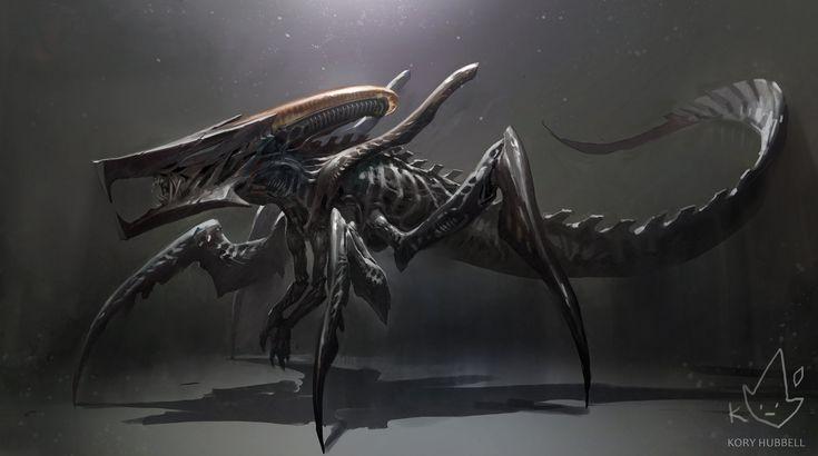 Xenomorph + Starship Troopers Warrior Bug, Kory Hubbell on ArtStation at https://www.artstation.com/artwork/xenomorph-starship-troopers-warrior-bug