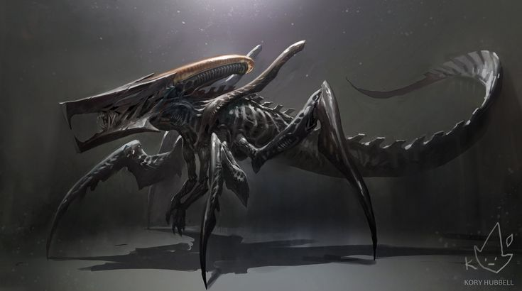Xenomorph + Starship Troopers Warrior Bug, Kory Hubbell on ArtStation at https://www.artstation.com/artwork/xenomorph-starship-troopers-warrior-bug
