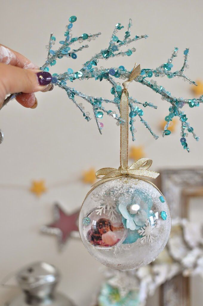 This is the Christmas ornament that I use the Prima products .