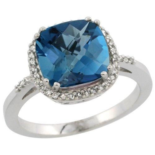 Revoni Coup d'Eclat - Bague Femme en Or blanc 585/1000 (14 carats) - Diamant et Topaze bleu de Londres 3.05 cts - Taille 55 de Revoni, http://www.amazon.fr/dp/B00B1T2LTW/ref=cm_sw_r_pi_dp_MiCdrb1CTXBD7