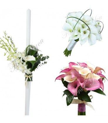 Pachet floral lumanari orhidee si trandafiri.  http://flowers4you.ro/pachete-nunta/287-pachet-floral-lumanari-buchete-cale.html