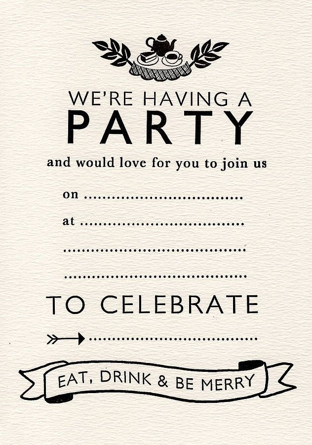 9 best Invitations - Blank images on Pinterest | Tea parties, Tea ...