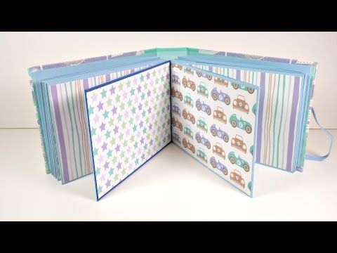 Mini Album Infantil acordeón con tapas duras | Scrapbooking | Mundo@Party - YouTube