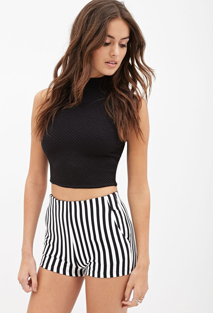 High-Waisted Striped Shorts #F21StatementPiece