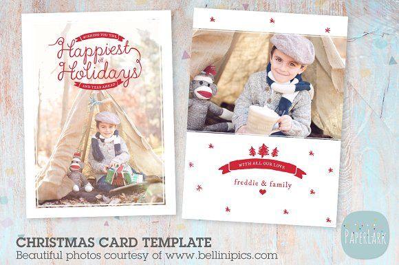 Ac042 Christmas Card Holiday Card Template Christmas Card Template Christmas Cards