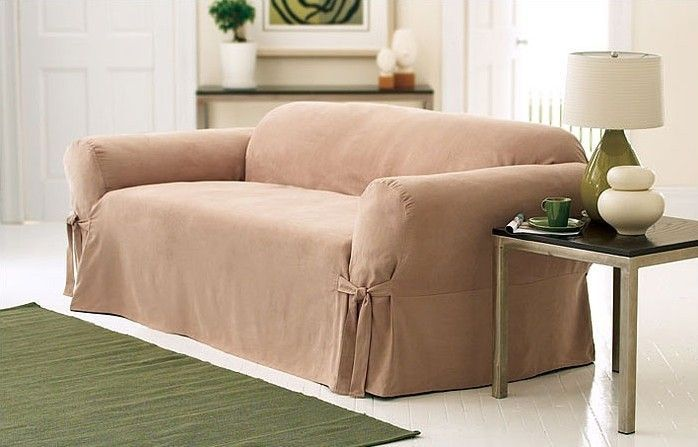 Soft Suede Sofa Slipcover