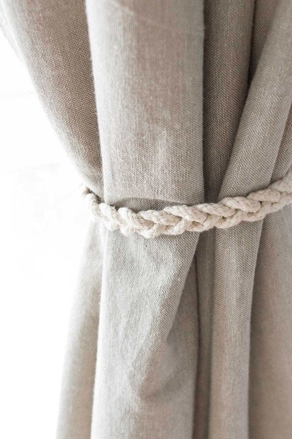 Quick Easy No Sew Braided Curtain Tiebacks Curtain Tie Backs Curtain Tie Backs Diy Curtain Ties
