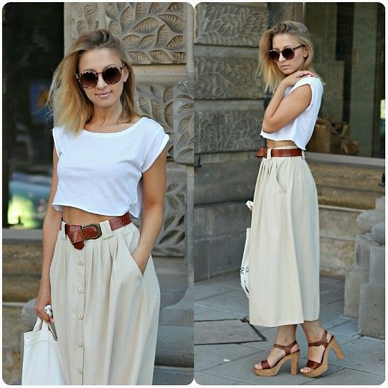 Fashion by Emily B.with white and beige #Batashoes #sandals #secondhands #classic #minimal