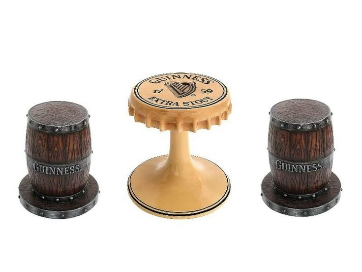 JBTH353 - Guinness Bottle Lid Bar Restaurant Table & Guinness Barrel Bar Restaurant Stools - All Beer Names Available - JBTH353 - Guinness Bottle Lid Bar Restaurant Table & Guinness Barrel Bar Restaurant Stools - All Beer Names Available.jpg