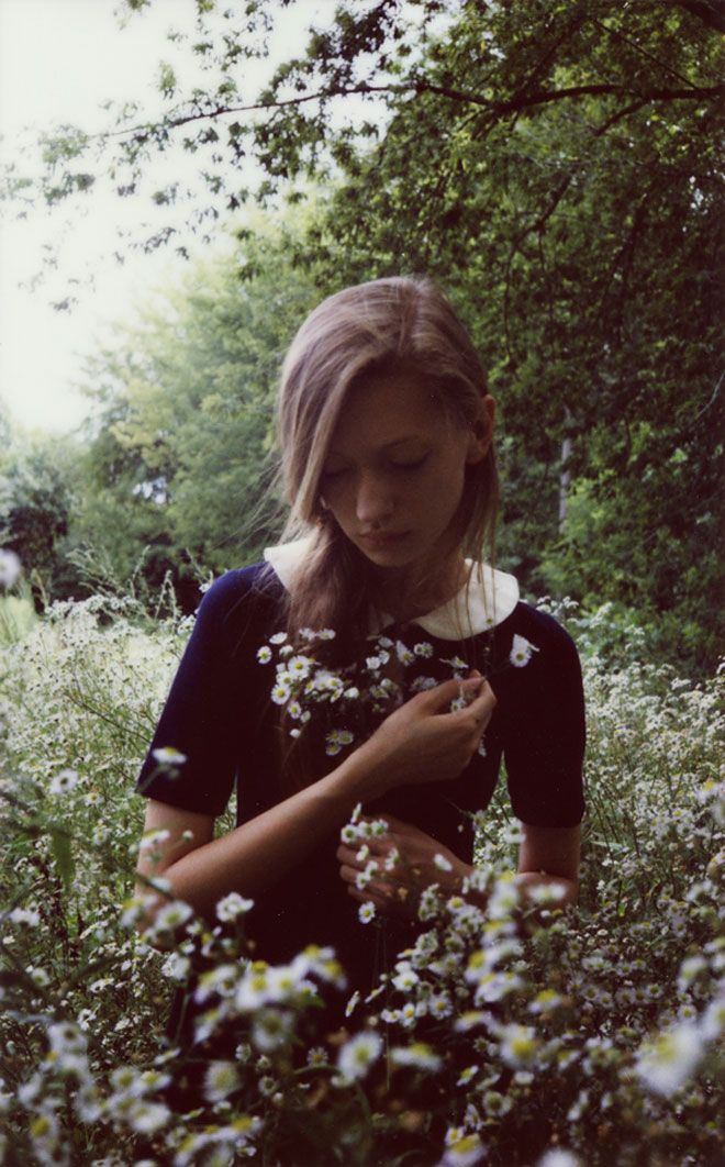 photo by Magdalena LutekFashion, Inspiration, Soft Grunge, Peter Pan Collars, Magdalena Lutek, Flower Fields, Book Series, Female Photography, Snow White