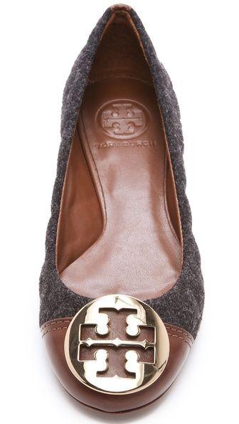 Tory Burch Parker Cap Toe Logo FlatsStyle, Flats Phones, Colors, Tone Flats, Tory Burch, Burch Flats, Woman Shoes, Fall Fashion, Gray Flannels