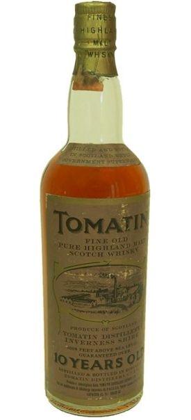 Tomatin 10 yo Fine Old Pure Malt Highland whisky bottled in 70's