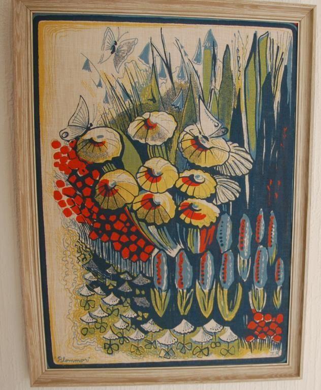 Blommor Ilse Roempke Claesson tavla retro 50-talet vintage
