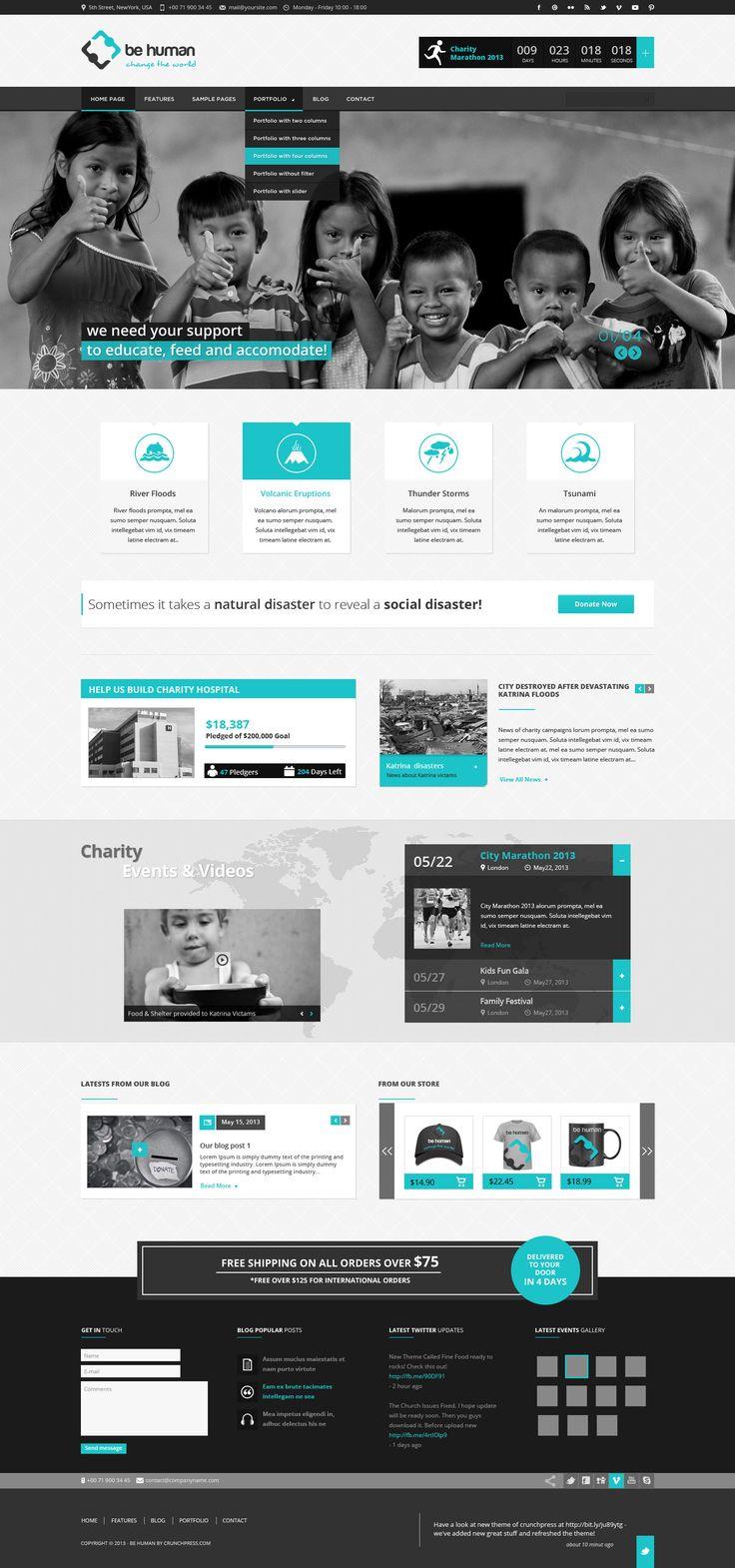 Be Human - Charity Multipurpose WP Retina Theme http://themeforest.net/item/be-human-charity-multipurpose-wp-retina-theme/5326773?ref=wpaw #web #design #website