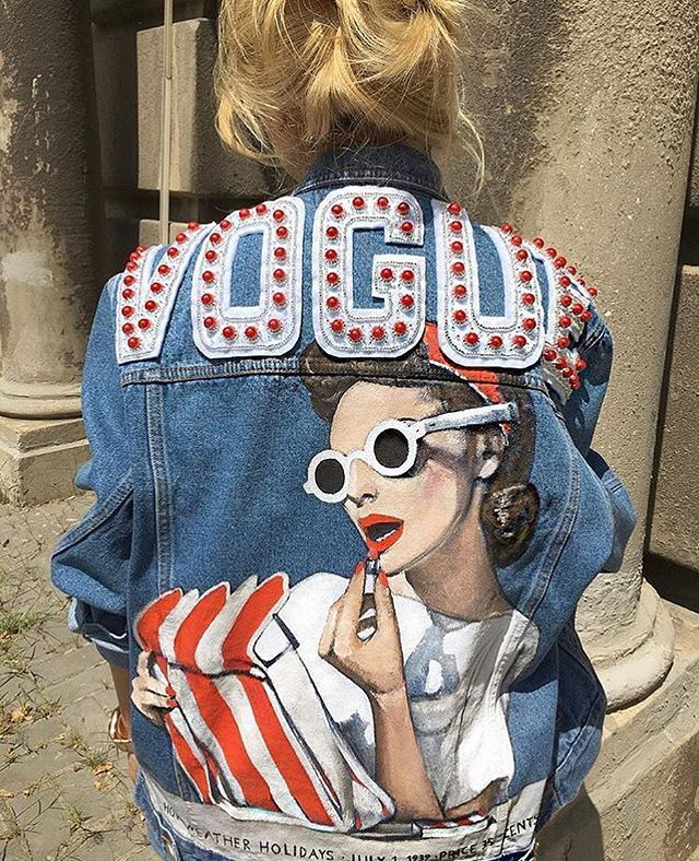Handmade denim jacket by TATMAN